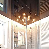 Badezimmerbeleuchtung Sternenhimmel Spanndecke Badezimmer