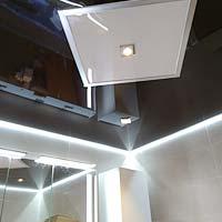 Badezimmerdecke renovieren mit PLAMECO Spanndecke in Oberhausen und Gelsenkirchen