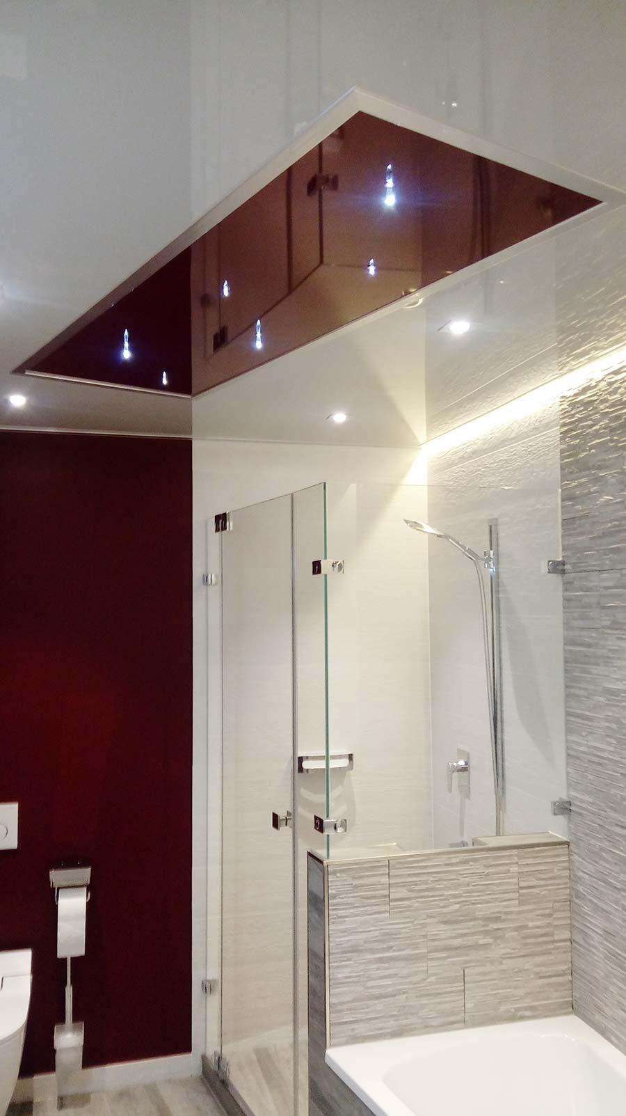 Tolle Badezimmerdecke mit Element und Sternenhimmel - PLAMECO
