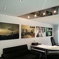 Decke im Büro - Renovieren und gestalten mit Spanndecke