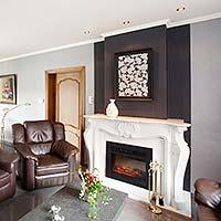 Geeignet für Kamin oder Ofen - Spanndecke von PLAMECO für Ihr Wohnzimmer