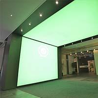 PLAMECO-Lichtdecke mit LED hinterleuchtet - Spanndecke im Besprechungsraum