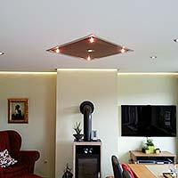 Deckengestaltung Zimmerdecke Wohnzimmer - PLAMECO Spanndecken