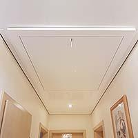 Zugtreppe renovieren - Decke erneuern - Spanndecken PLAMECO