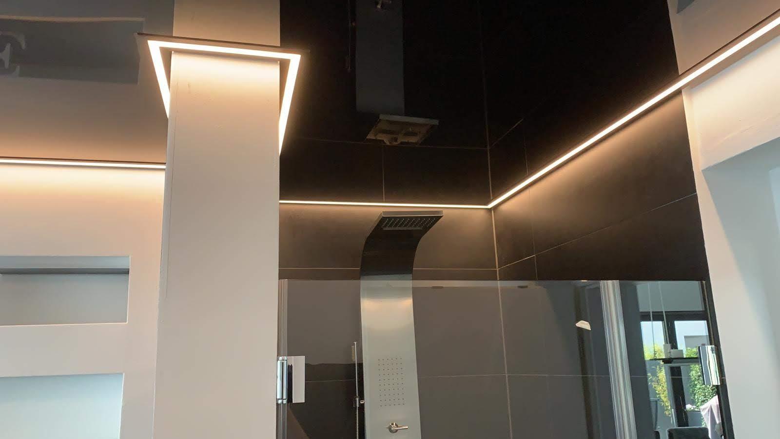 LED Beleuchtung Plameco Decke Badezimmerdecke in schwarz