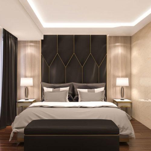 Plameco Spanndecke im Schlafzimmer